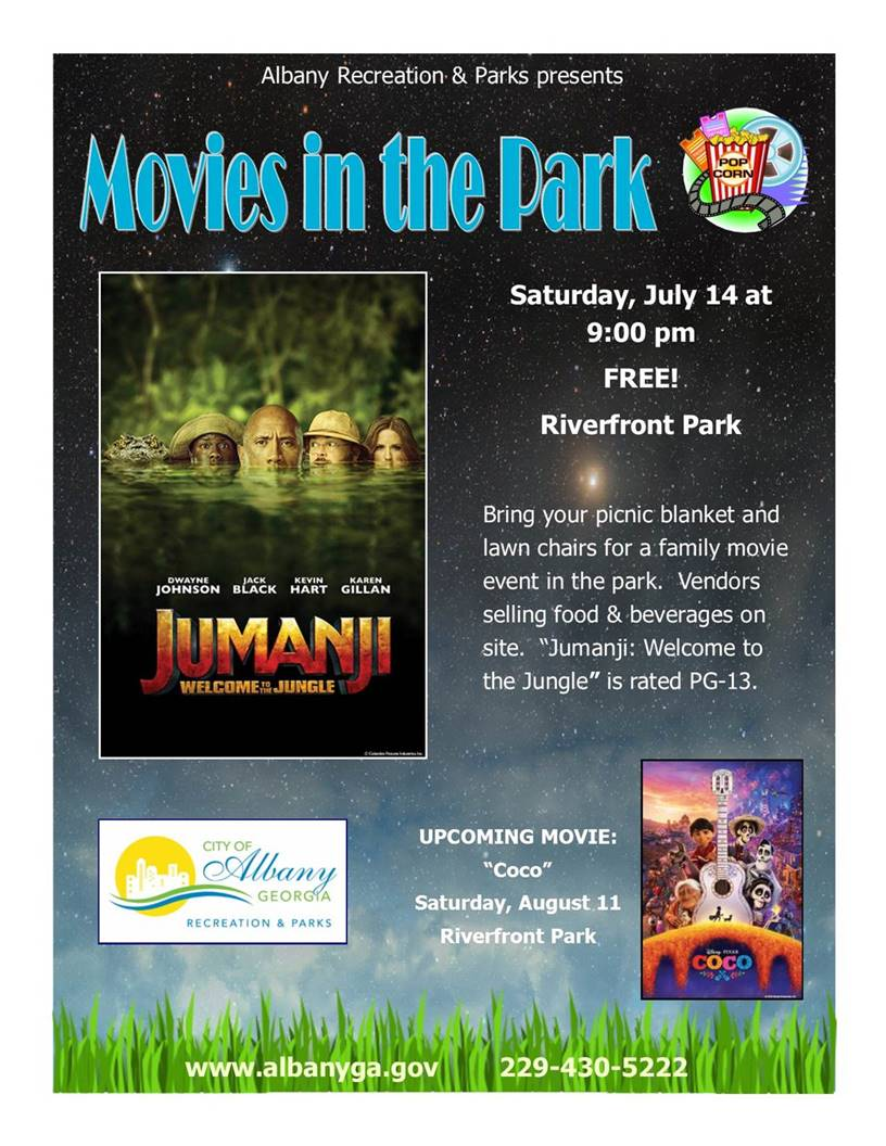 Movies in the Park - Jumanji, Welcome to the Jungle
